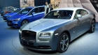 A Rolls Royce Wraith, front, and other cars of the BMW group are presented at Frankfurt's Auto Show