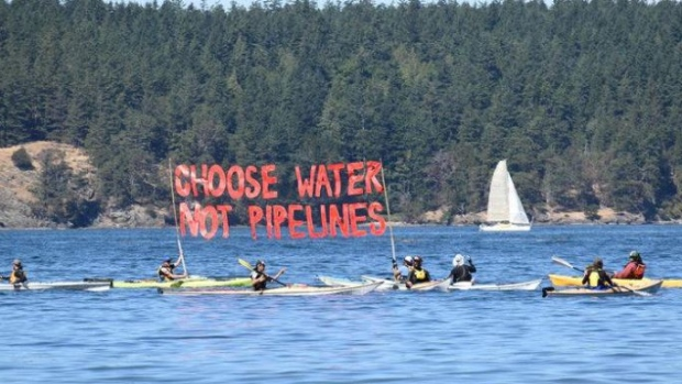 Opponents of Kinder Morgan's Trans Mountain pipeline expansion