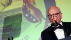 News Corp CEO Rupert Murdoch delivers remarks at an event