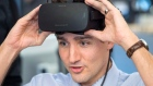 Prime Minister Justin Trudeau puts on a virtual reality headset