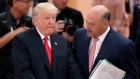 White House chief economic adviser Gary Cohn talks to U.S. President Donald Trump