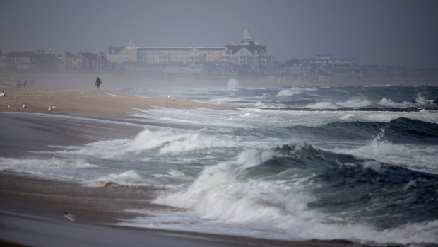 Waves from Jose causing problems on Hatteras Island