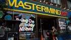 A customer walks into Mastermind Toys store on Queen St. East in Toronto