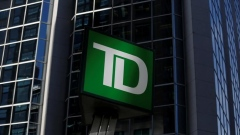 A Toronto-Dominion Bank sign is seen outside of a branch in Ottawa
