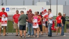 GM workers strike at the CAMI assembly plant in Ingersoll, Ont.