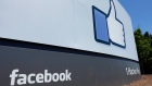 This July 16, 2013, file photo shows a sign at Facebook headquarters in Menlo Park, Calif.