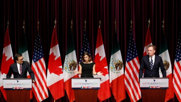 NAFTA end of Round 3 Chrystia Freeland Ildefonso Guajardo Robert Lighthizer