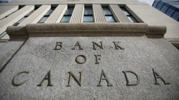 A sign is pictured outside the Bank of Canada building in Ottawa, Ontario, May 23, 2017