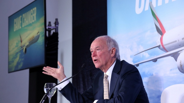 Tim Clark, president of Emirates Airlines, in Dubai, Nov 12 2017