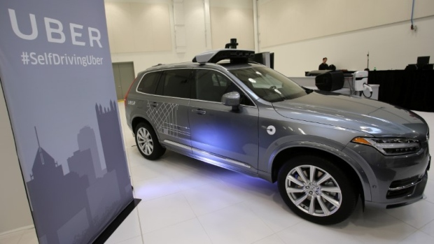 Uber Volvo XC90 self-driving car