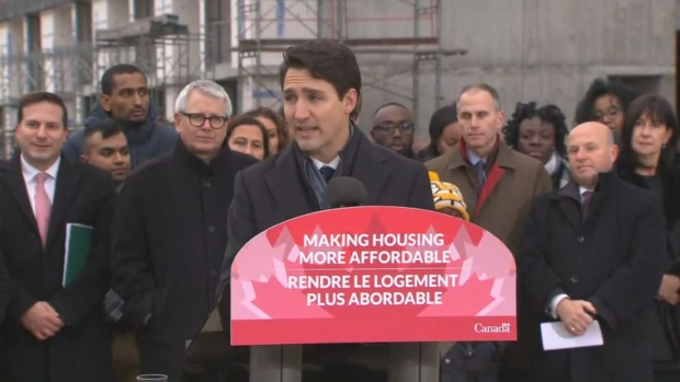 Prime Minister Justin Trudeau announces the details of the first-ever national housing strategy