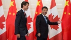 Justin Trudeau and Chinese President Xi Jinping