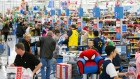 Customers shopping at Wal-Mart's Black Friday event on Thursday, Nov. 23, 2017 in Bentonville, Ark.