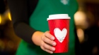 Starbucks red holiday cup Nov. 2017