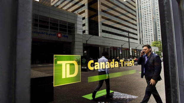 A TD Canada Trust branch is shown in the financial district in Toronto on Tuesday, August 22, 2017.