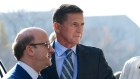 Former Trump national security adviser Michael Flynn arrives at federal court in Washington