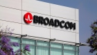 Broadcom Limited's logo is pictured on an office building in Rancho Bernardo, California