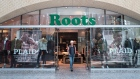 The storefront of a Roots location in Toronto is pictured on Thursday, September 14 , 2017