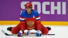 Alex Ovechkin competes for Russia at the 2014 Sochi Olympics.