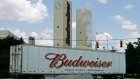 A Budweiser truck turns into Anheuser-Busch's Columbus brewery Tuesday, July 15, 2008