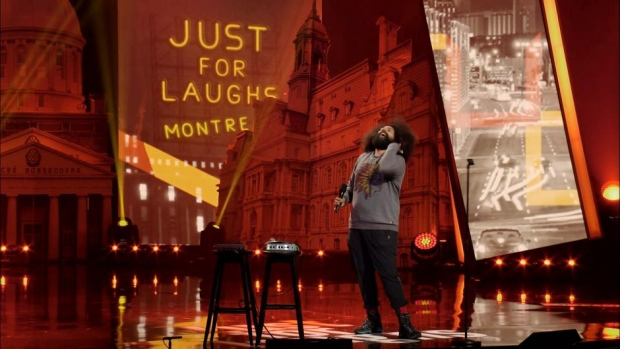 Reggie Watts performs at Montreal's Just For Laughs Festival