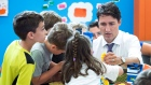 Trudeau at Wee College daycare in Moncton