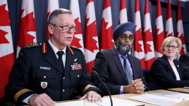 Canada's Chief of the Defence Staff General Jonathan Vance speaks during a news conference