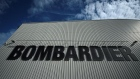 The Bombardier logo is seen at the Bombardier factory in Belfast, Northern Ireland September 26