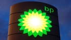 The logo of BP is seen at a petrol station in Kloten, Switzerland, October 3, 2017