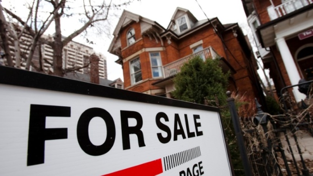 A house is seen for sale on the real estate market in Toronto, Ontario, Canada, April 9, 2009