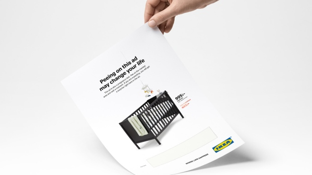 Peeing on this ad may change your life': IKEA creates