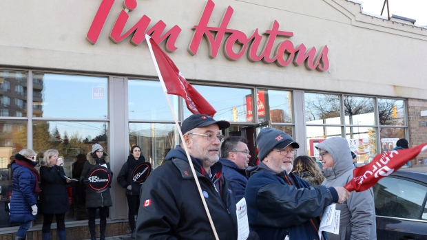 Tim Hortons protest