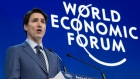 Prime Minister Justin Trudeau addresses the World Economic Forum