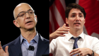 Amazon CEO Jeff Bezos and Canadian Prime Minister Justin Trudeau.